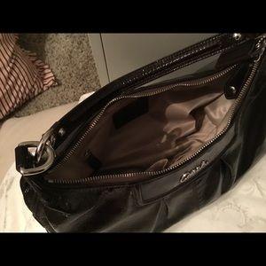 COACH hobo handbag brown patent leather!
